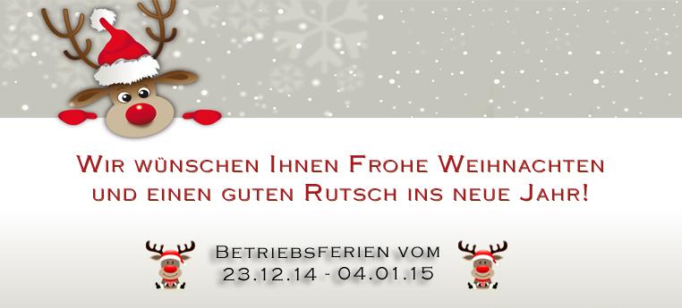 Betriebsferien – Frohe Weihnachten